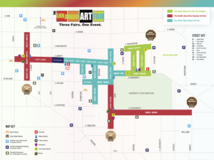 Map of the Ann Arbor Art Fair