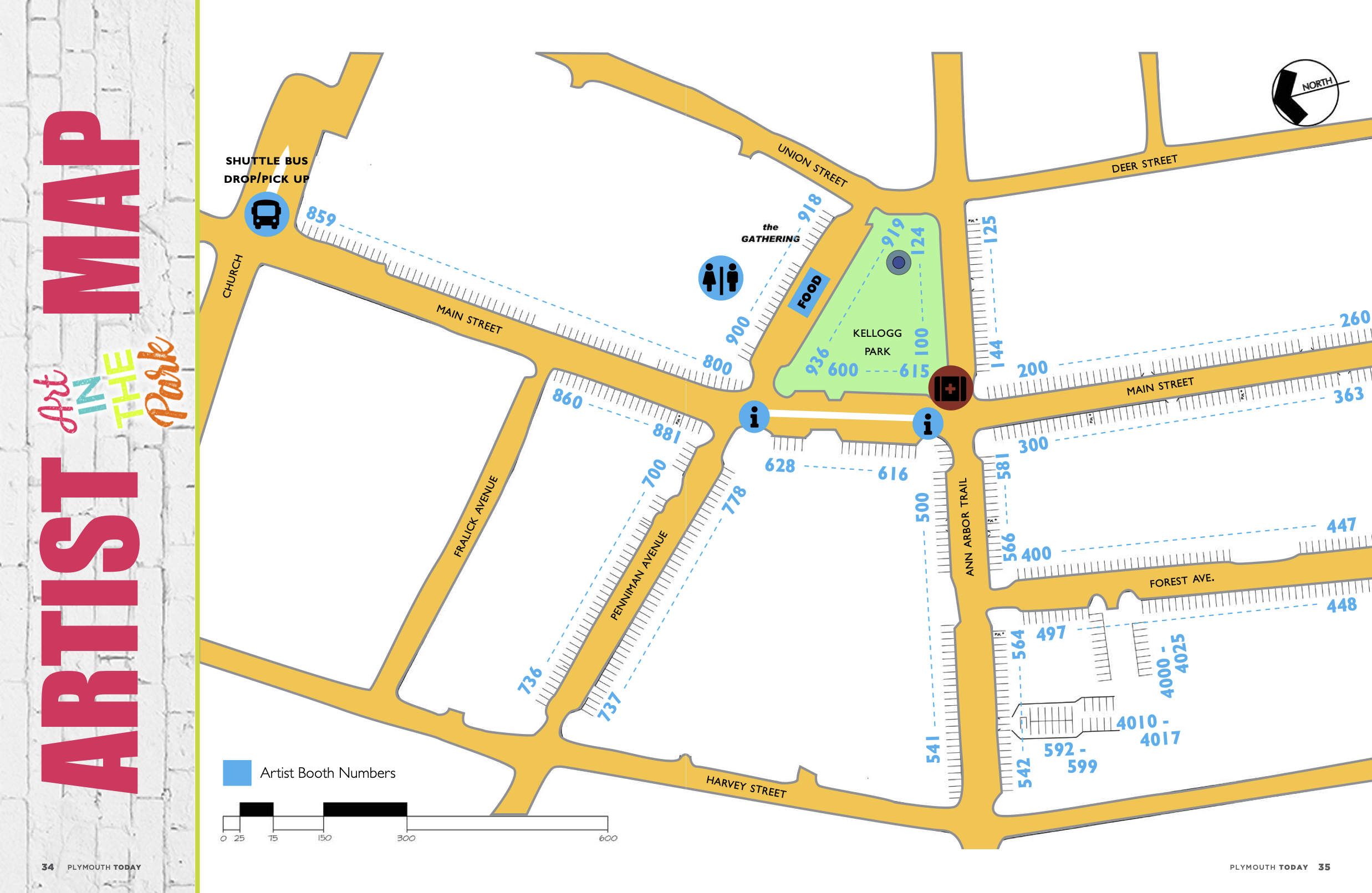 Plymouth Art in the Park Map